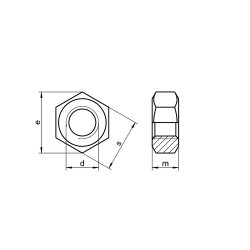 RVS Zeskantmoeren DIN 934 / ISO 4032