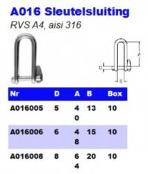 RVS Sleutelsluiting A016