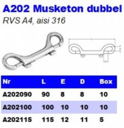 RVS Musketon dubbel A202