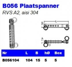 RVS Plaatspanners B056