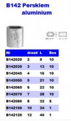 RVS Persklemmen aluminium B142