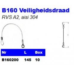 RVS Veiligheidsdraad B160