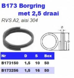 RVS Borgringen met 2.5 draai B173