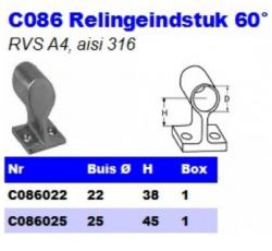 RVS Relingeindstukken 60° C086