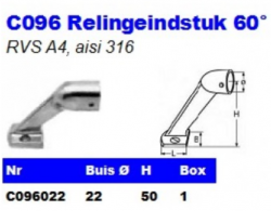 RVS Relingeindstukken 60° C096