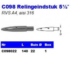 RVS Relingeindstukken 5½° C098