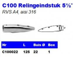 RVS Relingeindstukken 5½° C100