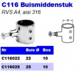 RVS Buismiddenstukken C116