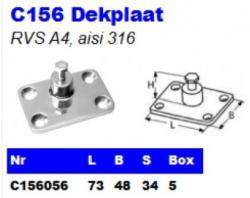 RVS Dekplaten C156