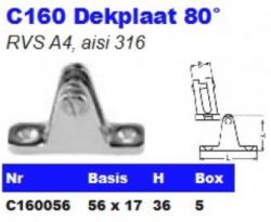 RVS Dekplaten 80° C160