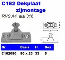RVS Dekplaten zijmontage C162