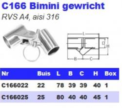 RVS Bimini gewrichten C166