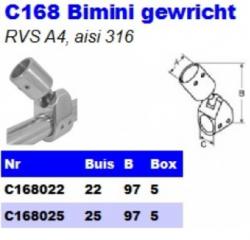 RVS Bimini gewrichten C168