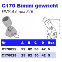 RVS Bimini gewrichten C170