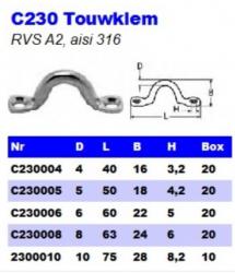 RVS Touwklemmen C230