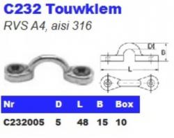 RVS Touwklemmen C232