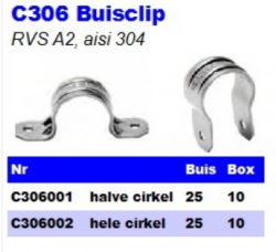 RVS Buisclips C306