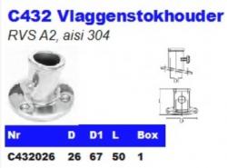 RVS Vlaggenstokhouders C432