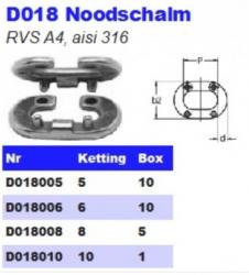 RVS Noodschalmen D018
