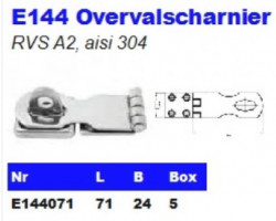 RVS Overvalscharnieren E144