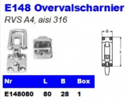 RVS Overvalscharnieren E148