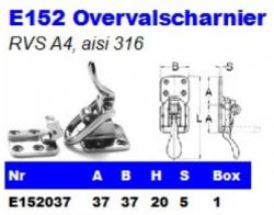 RVS Overvalscharnier E152