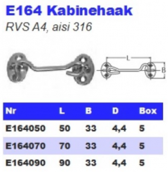 RVS Kabinehaken E164