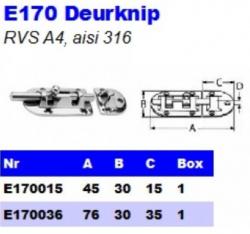 RVS Deurknip E170
