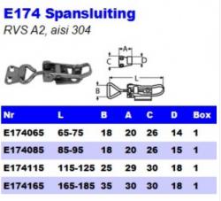 RVS Spansluitingen E174