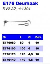 RVS Deurhaken E176