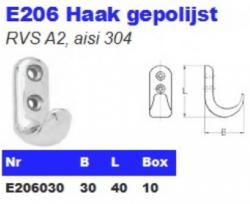 RVS Haken gepolijst E206