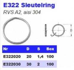 RVS Sleutelringen E322