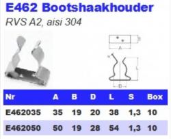 RVS Bootshaakhouders E462