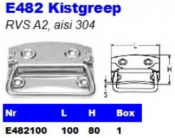 RVS Kistgrepen E482