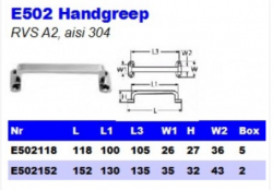 RVS Handgrepen E502