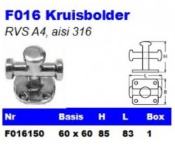 RVS Kruisbolders F016