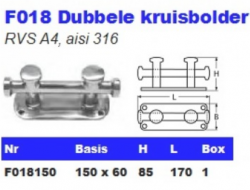 RVS Dubbele kruisbolders F018