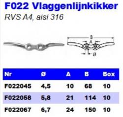 RVS Vlaggenlijnkikkers F022