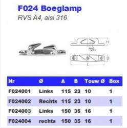 RVS Boeglampen F024