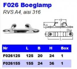 RVS Boeglampen F026