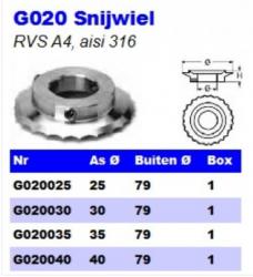 RVS Snijwielen G020