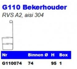 RVS Bekerhouders G110
