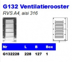 RVS Ventilatieroosters G132
