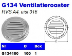 RVS Ventilatieroosters G134