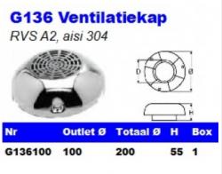 RVS Ventilatiekappen G136
