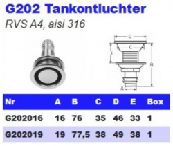 RVS Tankontluchters G202