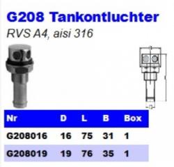 RVS Tankontluchters G208