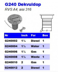 RVS Dekvuldoppen G240