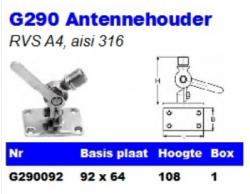 RVS Antennehouders G290