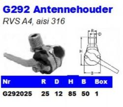 RVS Antennehouders G292